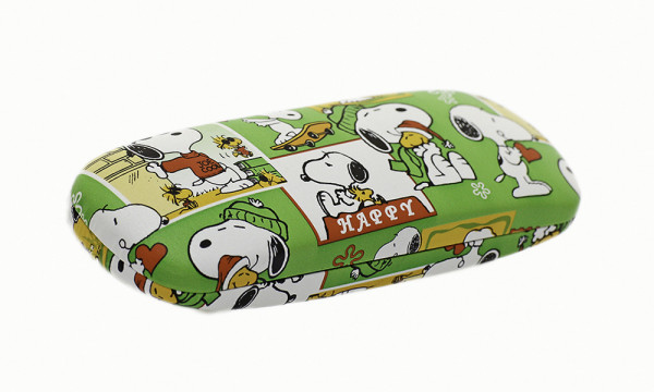 "Brillenetui mit Motiv ""Snoopy"" - grün"