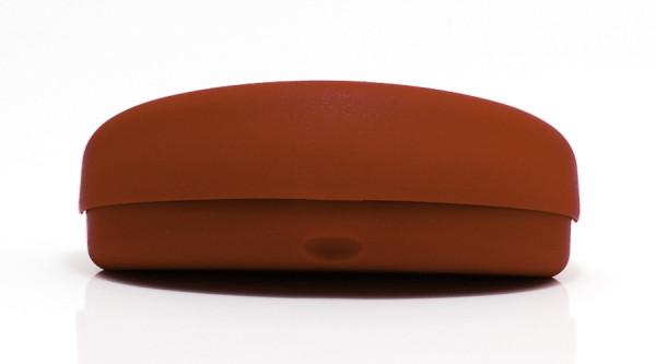 Kunststoffhartschale für gebogene Brillen - rot - Größe S
