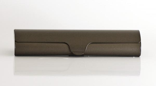Aluminiumetui - braun - groß