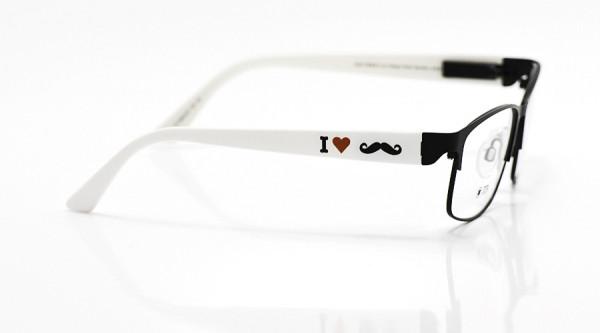 eye:max Wechselbügel 5622.03 Kunststoff I love Moustache 135mm