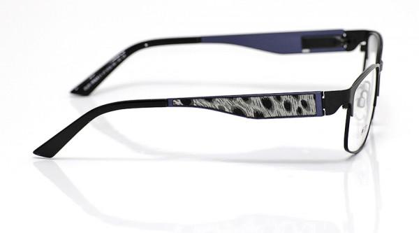 eye:max Wechselbügel 5700.160 Edelstahl blau Jaguarfell weiss 140mm
