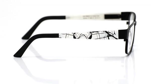 eye:max Wechselbügel 5883.101 Kunststoff weiß schwarz marmoriert 135mm
