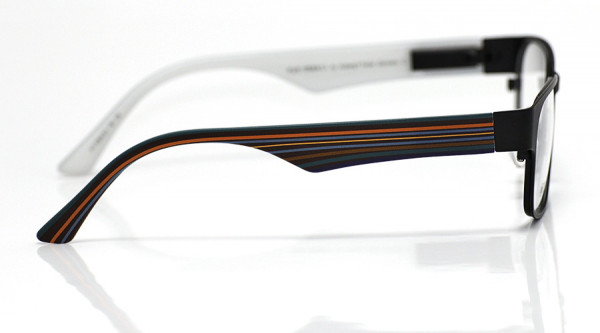 eye:max Wechselbügel 5564.03 Kunststoff Querstreifen rot,petrol 135mm