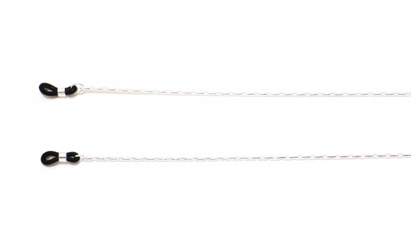 Brillenkette aus Metall - silberfarben