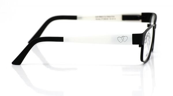 eye:max Wechselbügel 5592.081 Kunststoff weiß mit Glitzerherzen, Hochzeit 135mm
