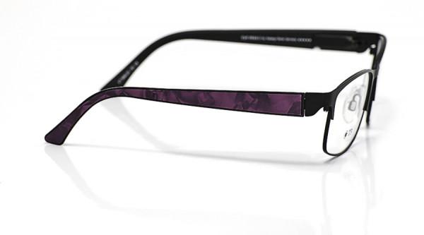 eye:max Wechselbügel 5660.05 Kunststoff Acetat Applikat. lila schwarz 135mm