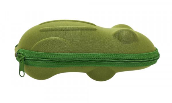 Kinderbrillenetui mit Reissverschluss - Frosch - grün