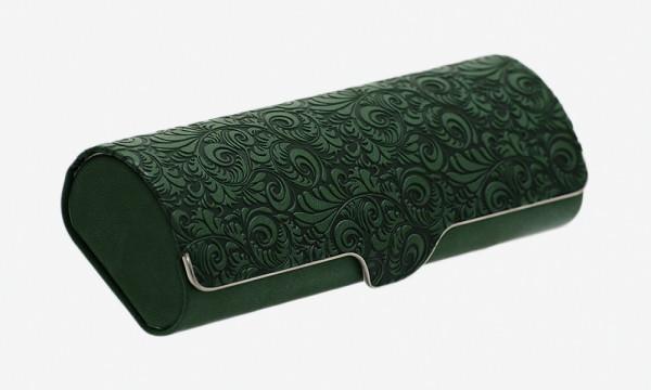 verziertes Klappetui mit Magnetverschluss - grün