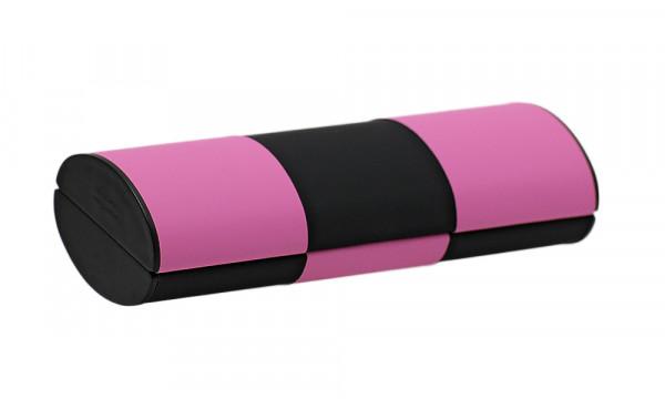 Zauberetui, Wendeetui - Größe S - schwarz/grün zu schwarz/pink