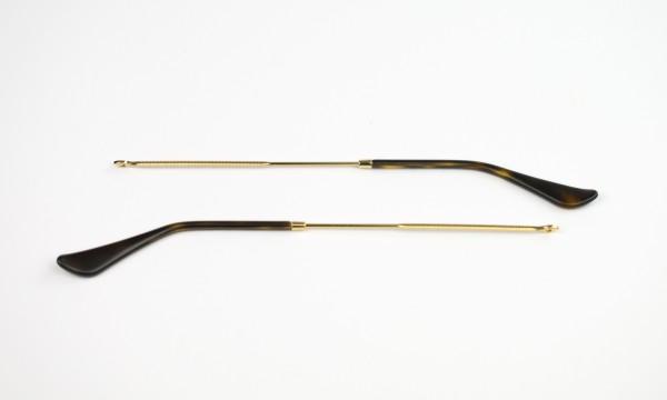 Originalersatzbügelpaar Ray-Ban RB3447 col. 001 gold glänzend 145mm