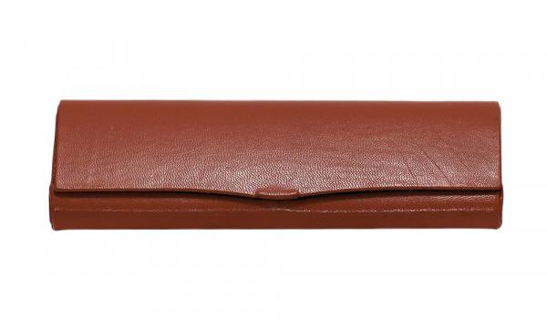 Reinhold Kühn Etui - rot - Hartschale mit Lederüberzug