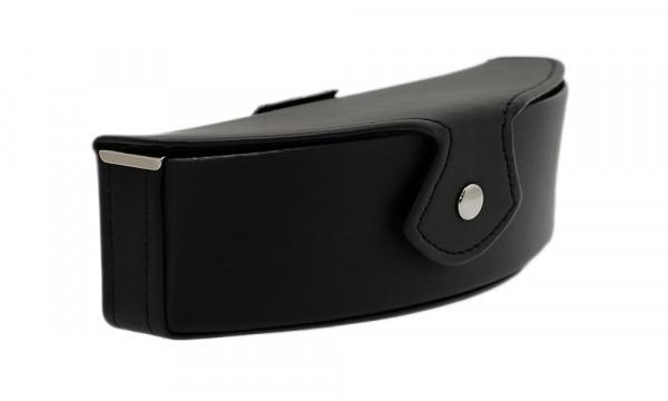 Brillenetui mit Gürtelschlaufe und Druckknopfverschluss - Benno