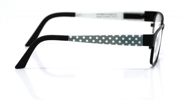 eye:max Wechselbügel 5574.031 Kunststoff Punkte grau weiß 135mm